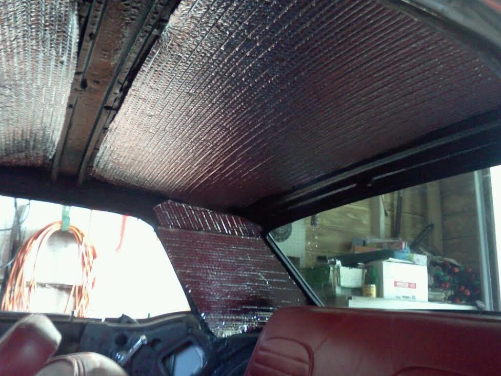 Restoration Update: Headliner Insulation – Red Mustang Lounge